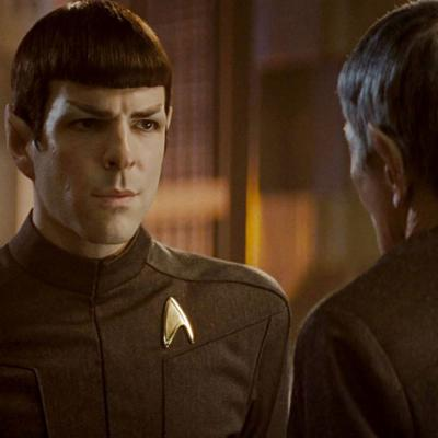 Cover art for Science Fiction and Star Trek, with Zachary Quinto